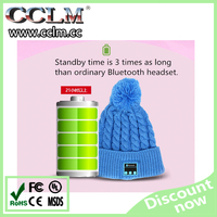 Wholesale prices 2015 new style Plush warm winter earflap knitted bluetooth crochet hat