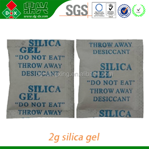 Water absorbing silicone gel desiccant bag