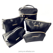 black cosmetic travel bag custom makeup bag set