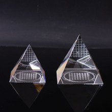 Hot Sale Religious Gifts Egypt Crystal Pyramid Shaped Paperweight For Gift