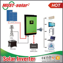 Parallel 3 phases Solar Power Inverter 15KVA dc48v built-in MPPT Solar Charge Controller 60A home