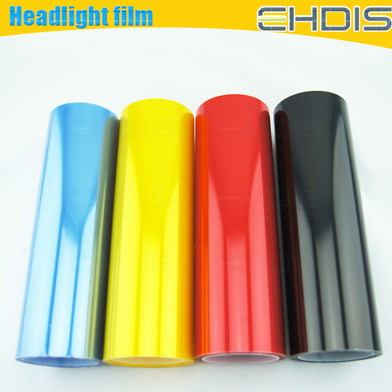 Hot selling car headlight tint film light blue 0.3x10m film for the headlights