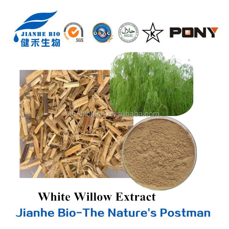 100% Natural Salicin 25% powder White Willow Bark Extract