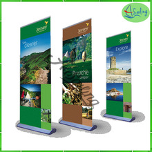 plastic material frame advertising banner stand, roll up banner printed type disaply