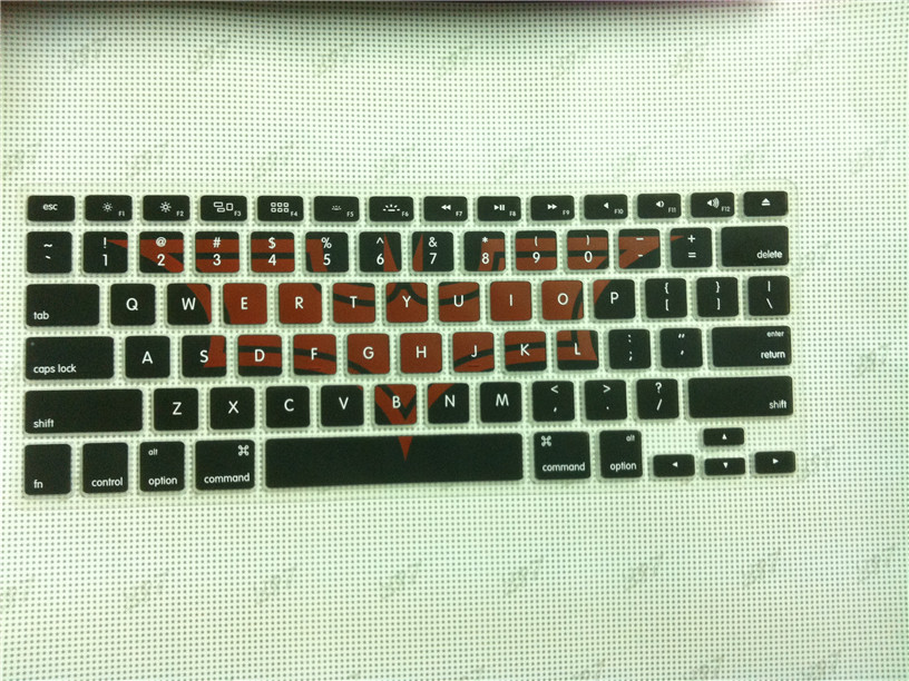 Wholesale! custom silicone keyboard cover For Apple MacBook