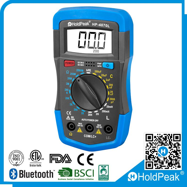 Professional HP-4070L 3 1/2 Digital Multimeter LCR Meter AC/DC Current Resistance Capacitance Temperature Inductance Tester