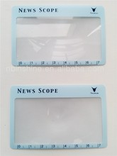 Easy carry flexible PVC ruler scale bookmark magnifier , pvc magnifying plastic sheet with ruler , funny ruler