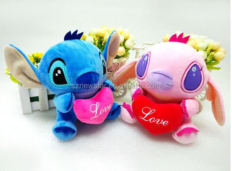 Factory Price hot selling 20cm Stitch Plush Toys Soft plush stuffy toys