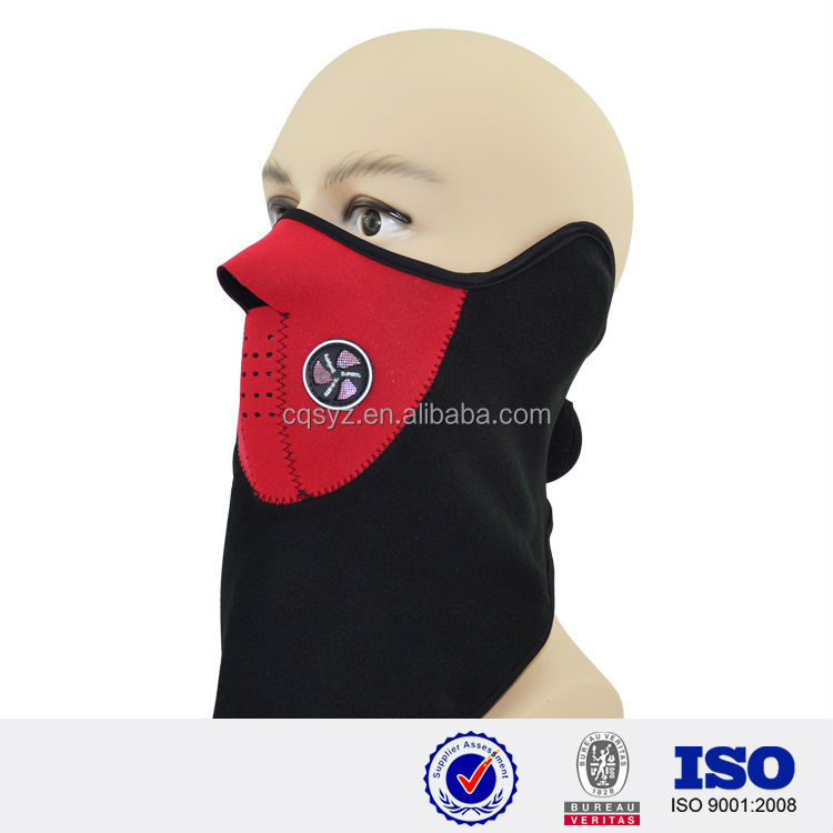 colorful custom rubber half face cover air filter hyigenic mouth cover neoprene face mask