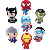 (Hot Gifts) Factory Direct America Super Hero Captain Amarica Batman Spiderman Ironman Plush Dolls Gift Toys