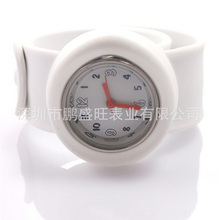 Top quality discount sales kid watch children watch can be rolled silicone wristband watches
