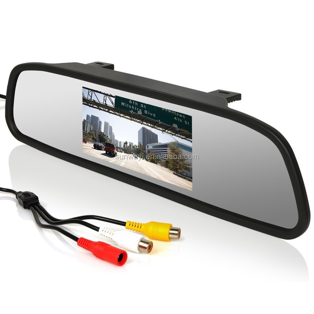 "4.3"" rear view mirror TFT LCD Reverse Display Rearview Mirror Monitor"