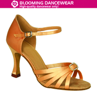 T-strap latin dance shoes with rhinestones