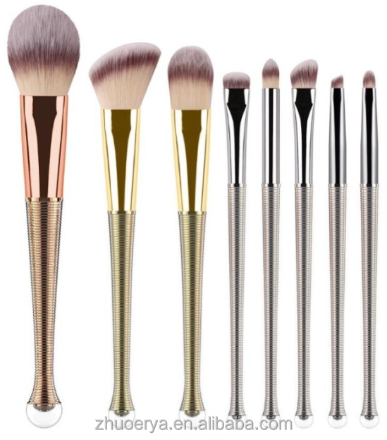 Top quality 3-8pcs personalized vegan new patent makeup brushes manufacturer