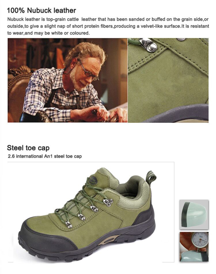 genuine leather anti puncture safety shoes composite toe protect toe hygiene safety shoes