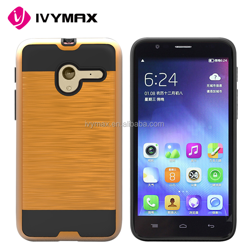 Wholesale durable hard hair line pc case back cover case for Alcatel OT5015A