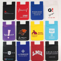Hot selling Mobile Customized Logo 3M Silicon Wallet Cell Phone Sticker Card Holder Back Smart Wallet for iPhone 6s