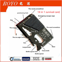 Survival Multi Tool RumbaDock Survival Gear Tools 14 in 1 Credit Card Multitool Best SAS Survival Kit Multi-tool- Ideal for Fish
