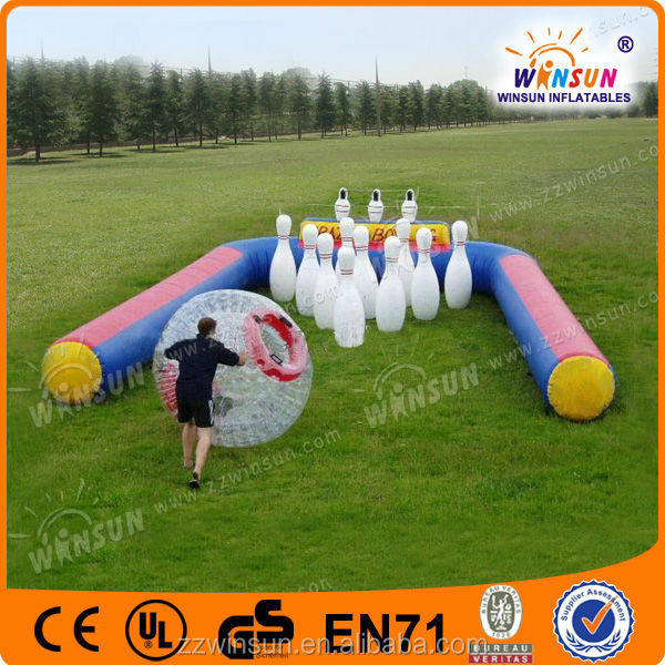 Home yard inflatable bowling game for playground
