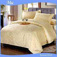 100% cotton modern bed linen yellow duvet cover on sale