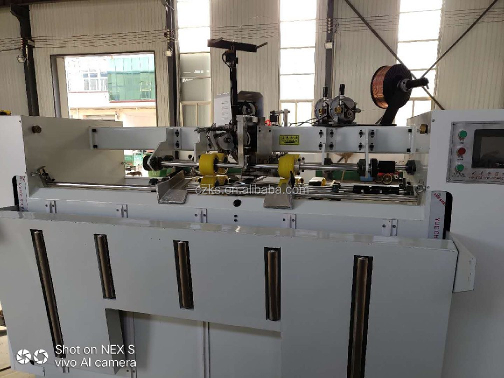 Semi auto high speed single chip double servo stitching and nail box machine