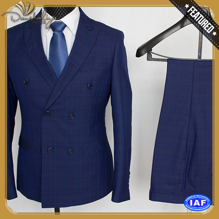 Wholesale 3 piece suit blue suit for sale