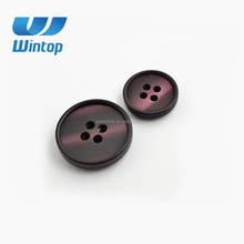 high quality resin four hole round big sewing buttons for suit