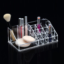 Wholesale transparent acrylic makeup cosmetic organizer box with mirror