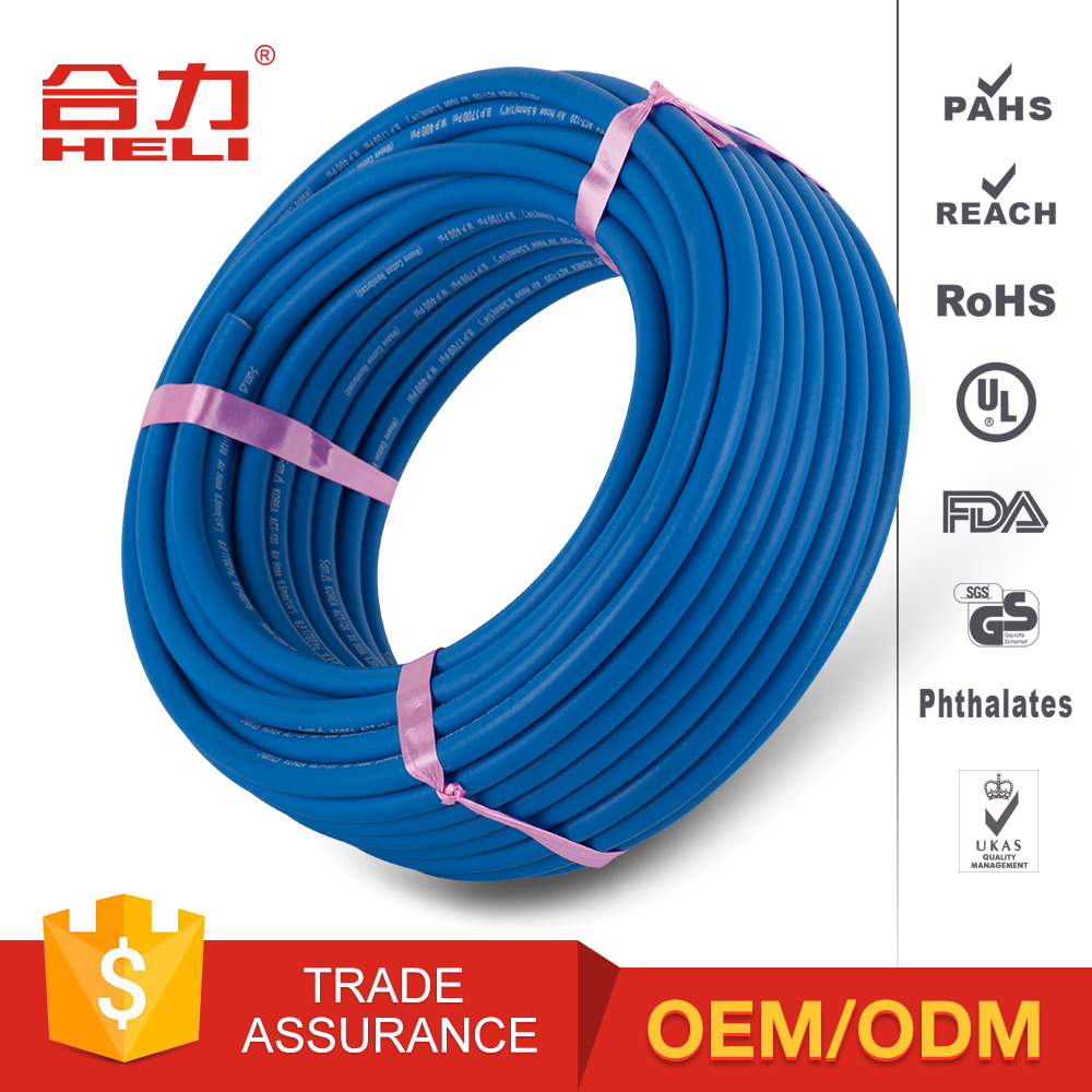 Non-toxic blue low pressure rubber air hose