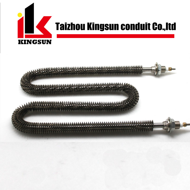 electrical duct air heater finned tubular heating element