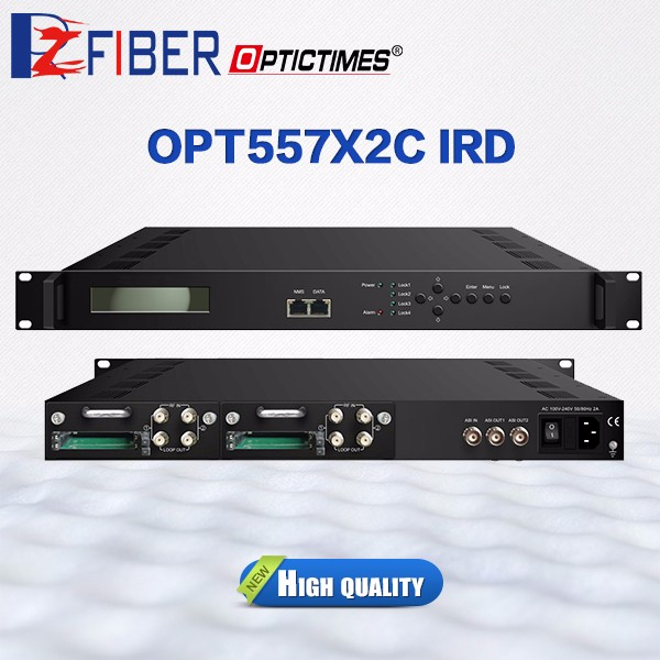 Digital Broadcasting Equipments 4 Tuner IRD DVB-S2 to IP Receiver for IPTV/DVB headend