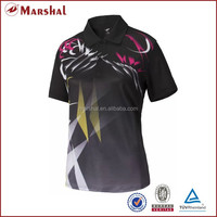 Whoesale Customized Black Sublimation Sports T