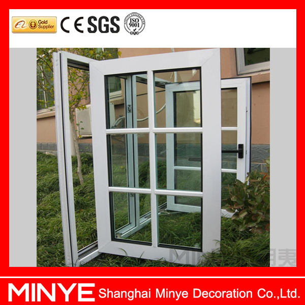 aluminum cladding wood profile double glass top hung window/aluminium awning window design