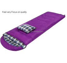 Outdoor envelope sleeping bag with pillow wholesale 4 season sleeping bag