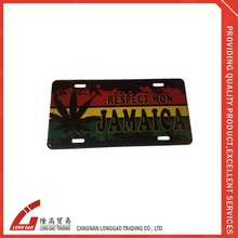 blank pvc metal car number metal aluminum name plate for car ,bike