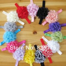 CF 0768 2013 trendy children colorful inexpensive cotton yarn flower elastic baby wholesale headband