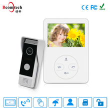 Bcomtech Cheap Entry 4.3 Inch touch Button Villa Apartment Video Door Phone