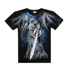 Metal heaven skull printing t-shirt,wholesale custom all over print t-shirt