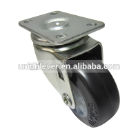 Plate type mini 2 inch casters and wheels swivel rubber small wheel casters