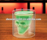 3 ounce doomed and double layer shull shot glass