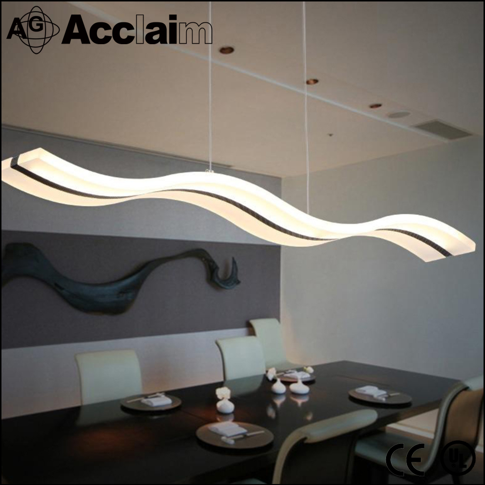 China energy saving creative led shapes acrylic chandelier with wave forms house decoration made in zhongshan