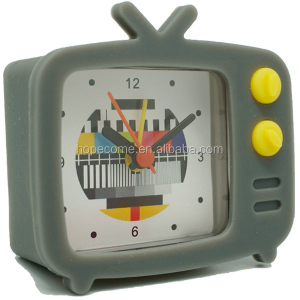 Personalised TV shape electric square table alarm clock