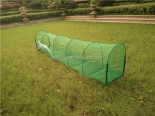 Outdoor pet training tunnel/ pet mesh tunnel/strong cat running tunnel with stakes or pegs