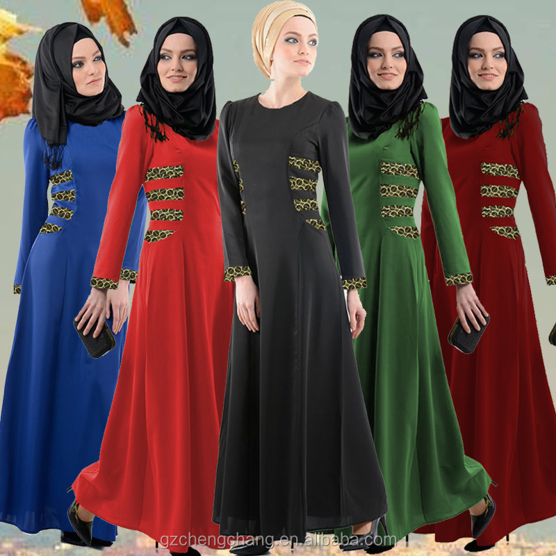 New Muslim women's robe Malaysian Indonesian national wind lace traditional female dress