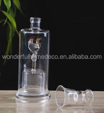hand blown traditional wine glass bird bottle