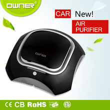 Negative ion car air purifier hepa air scrubber