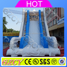 Green water slide with pool for kids hot sales high quality