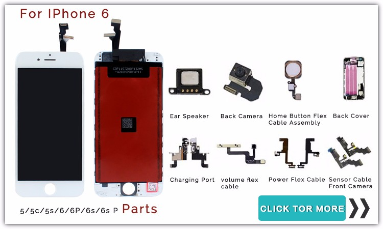 100% Warranted Full Screen No Dead Pixel For iPhone 6 LCD Display With Touch Digitizer Assembly