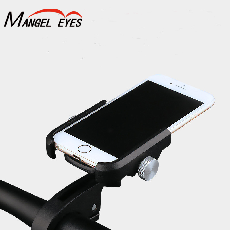 360 Degree Adjustable Aluminum Alloy Cell Phone Mobile Holder Handlebar And Rearview Mirror Mount