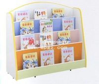 2014 New Design Fashion Mobile Library Wood Bookshelf/Bookcase
